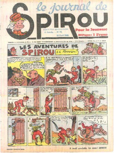 Cover for Le Journal de Spirou (Dupuis, 1938 series) #16/1940