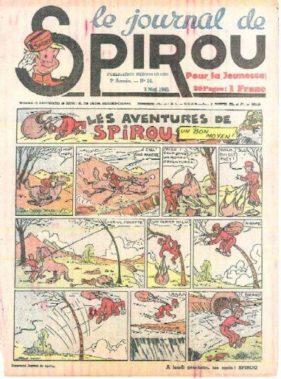 Cover for Le Journal de Spirou (Dupuis, 1938 series) #18/1940