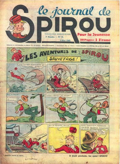 Cover for Le Journal de Spirou (Dupuis, 1938 series) #19/1940