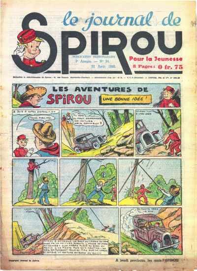 Cover for Le Journal de Spirou (Dupuis, 1938 series) #34/1940