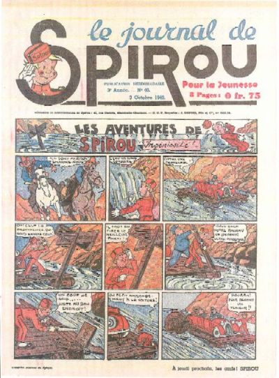 Cover for Le Journal de Spirou (Dupuis, 1938 series) #40/1940