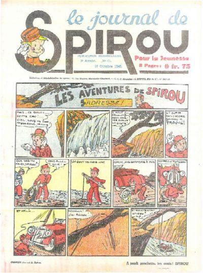 Cover for Le Journal de Spirou (Dupuis, 1938 series) #41/1940