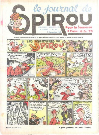 Cover for Le Journal de Spirou (Dupuis, 1938 series) #45/1940