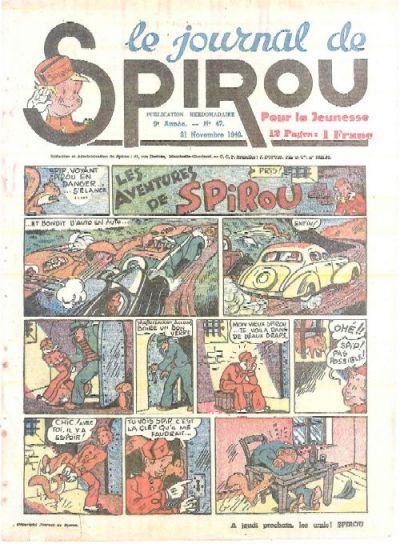 Cover for Le Journal de Spirou (Dupuis, 1938 series) #47/1940