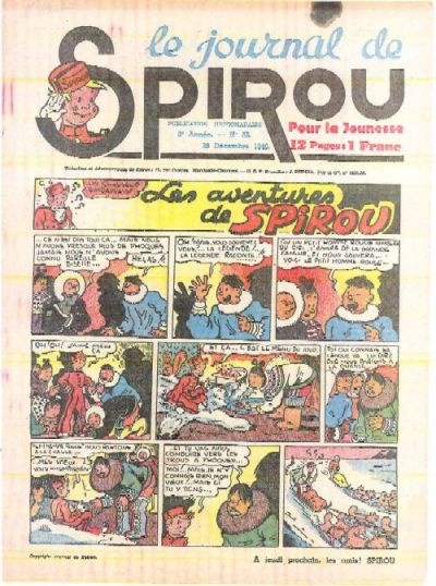 Cover for Le Journal de Spirou (Dupuis, 1938 series) #52/1940