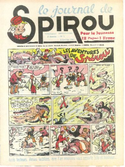 Cover for Le Journal de Spirou (Dupuis, 1938 series) #1/1941