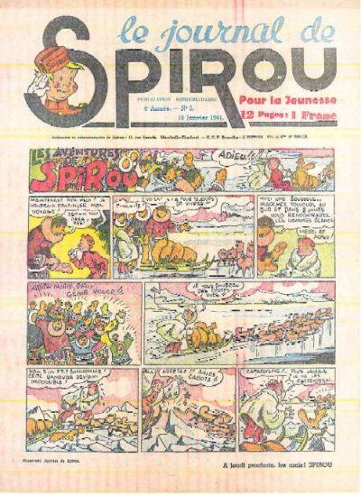 Cover for Le Journal de Spirou (Dupuis, 1938 series) #3/1941