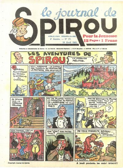 Cover for Le Journal de Spirou (Dupuis, 1938 series) #17/1941