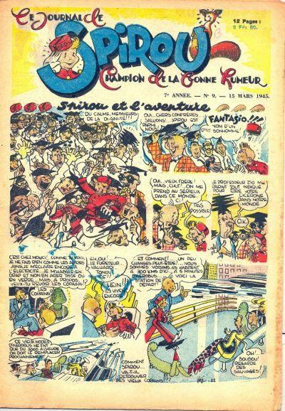 Cover for Le Journal de Spirou (Dupuis, 1938 series) #9/1945