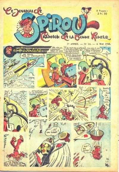 Cover for Le Journal de Spirou (Dupuis, 1938 series) #13/1945