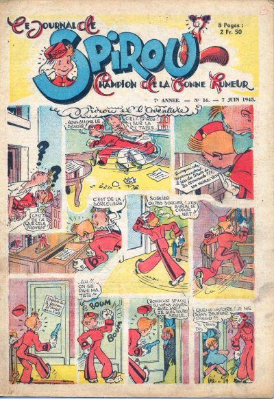 Cover for Le Journal de Spirou (Dupuis, 1938 series) #16/1945