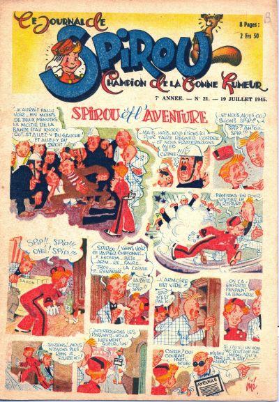 Cover for Le Journal de Spirou (Dupuis, 1938 series) #21/1945