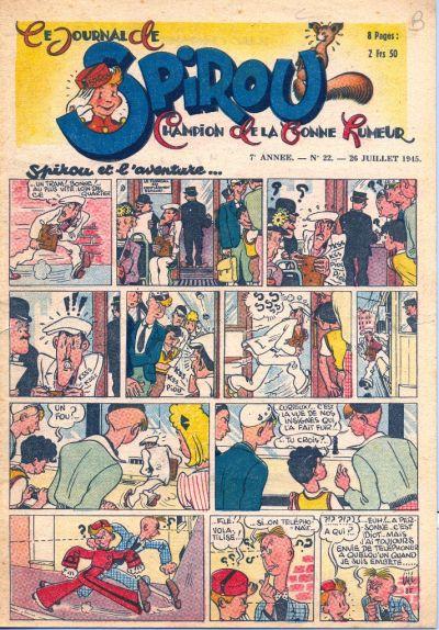 Cover for Le Journal de Spirou (Dupuis, 1938 series) #22/1945