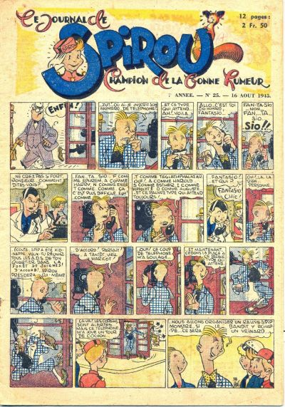 Cover for Le Journal de Spirou (Dupuis, 1938 series) #25/1945