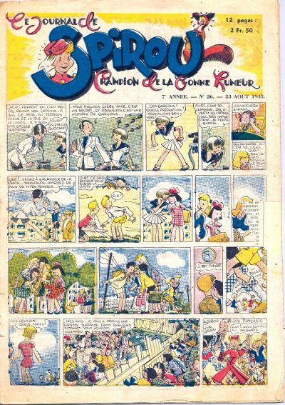 Cover for Le Journal de Spirou (Dupuis, 1938 series) #26/1945