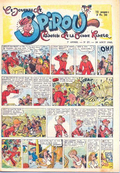 Cover for Le Journal de Spirou (Dupuis, 1938 series) #27/1945