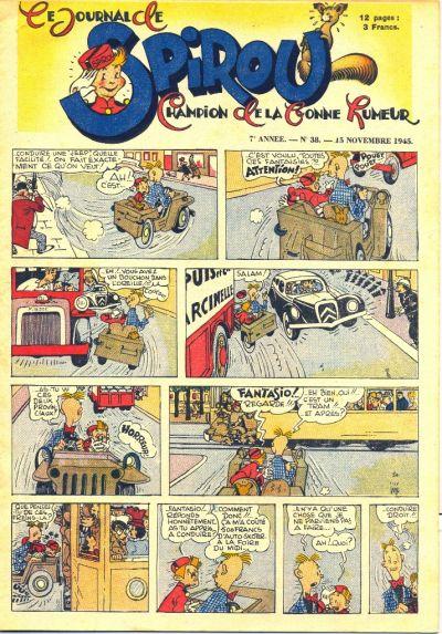 Cover for Le Journal de Spirou (Dupuis, 1938 series) #38/1945