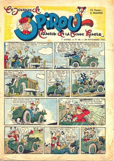 Cover for Le Journal de Spirou (Dupuis, 1938 series) #40/1945