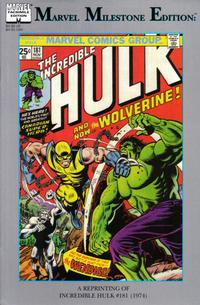 Cover Thumbnail for Marvel Milestone Edition: The Incredible Hulk #181 (Marvel, 1999 series)