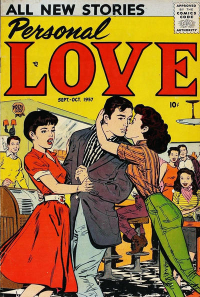 Cover for Personal Love (Prize, 1957 series) #v1#1