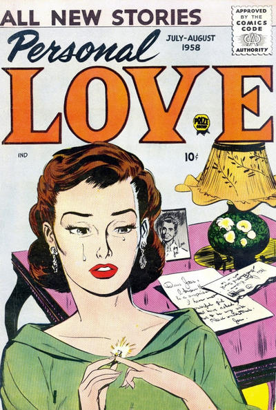 Cover for Personal Love (Prize, 1957 series) #v1#6