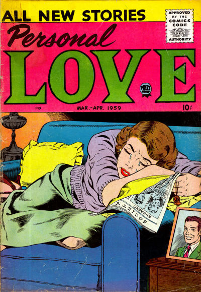 Cover for Personal Love (Prize, 1957 series) #v2#4