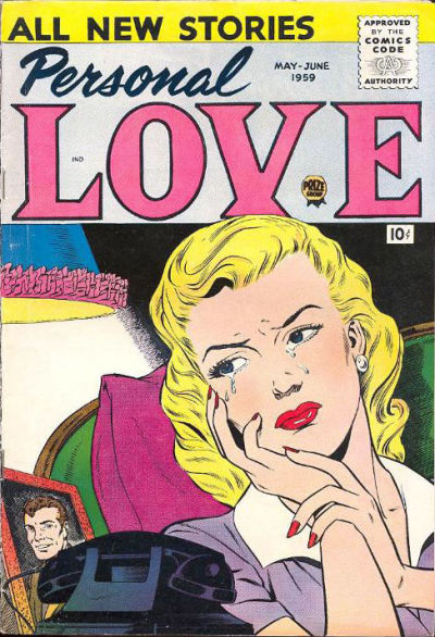 Cover for Personal Love (Prize, 1957 series) #v2#5