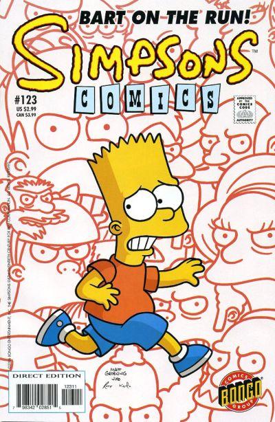 Cover for Simpsons Comics (Bongo, 1993 series) #123
