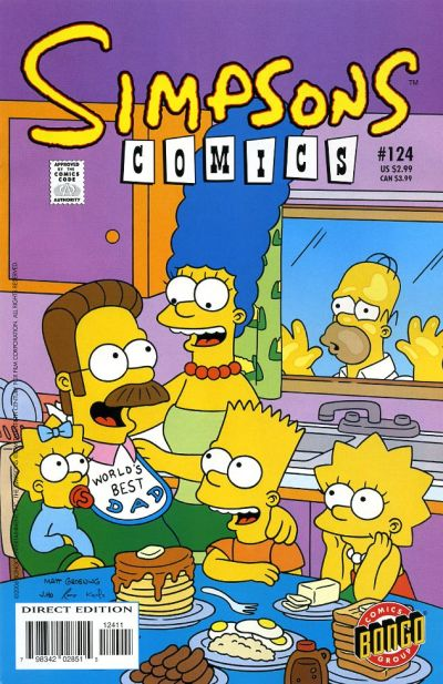 Cover for Simpsons Comics (Bongo, 1993 series) #124