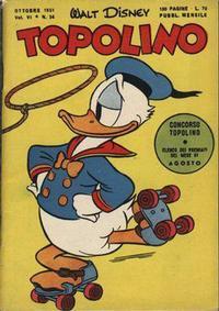 Cover for Topolino (Arnoldo Mondadori Editore, 1949 series) #34