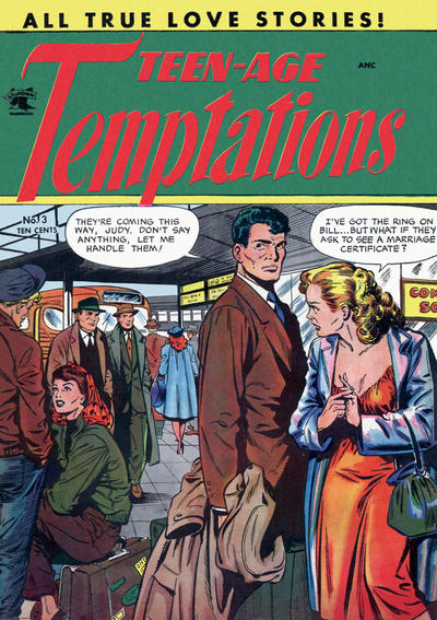 Cover for Teen-Age Temptations (St. John, 1952 series) #3