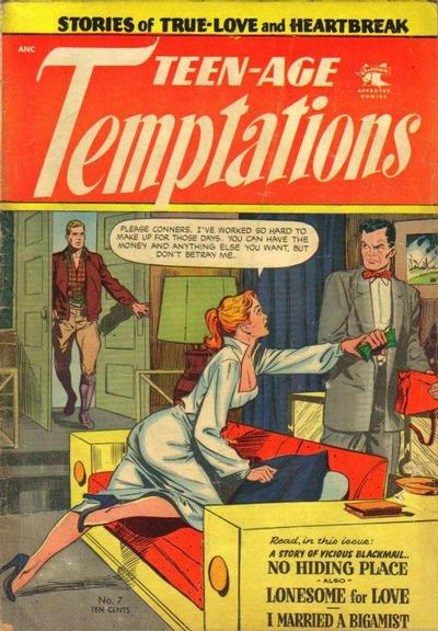 Cover for Teen-Age Temptations (St. John, 1952 series) #7