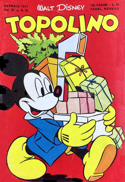 Cover for Topolino (Arnoldo Mondadori Editore, 1949 series) #23