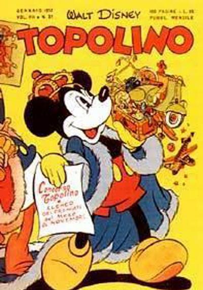 Cover for Topolino (Arnoldo Mondadori Editore, 1949 series) #37