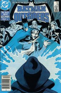 Cover Thumbnail for Batman and the Outsiders (DC, 1983 series) #28 [Newsstand]