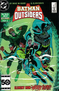 Cover for Batman and the Outsiders (DC, 1983 series) #29 [Direct]