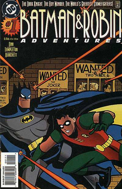 Cover for The Batman and Robin Adventures (DC, 1995 series) #1 [Direct Sales]