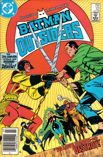 Cover for Batman and the Outsiders (DC, 1983 series) #12 [direct-sales]