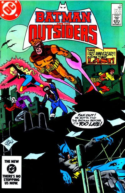 Cover for Batman and the Outsiders (DC, 1983 series) #13 [Canadian]