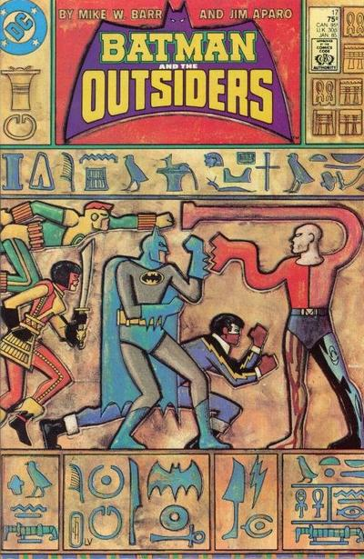 Cover for Batman and the Outsiders (DC, 1983 series) #17 [Newsstand]
