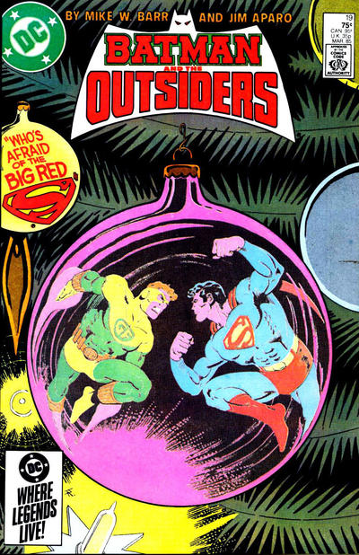 Cover for Batman and the Outsiders (DC, 1983 series) #19 [Direct Edition]