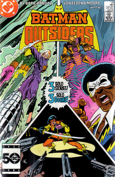Cover for Batman and the Outsiders (DC, 1983 series) #21 [Direct Sales]