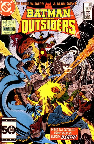Cover for Batman and the Outsiders (DC, 1983 series) #22 [Direct Sales]