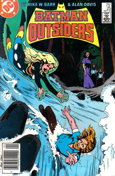 Cover for Batman and the Outsiders (DC, 1983 series) #25 [Newsstand]