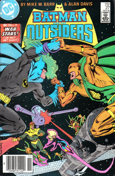 Cover for Batman and the Outsiders (DC, 1983 series) #27 [Newsstand]
