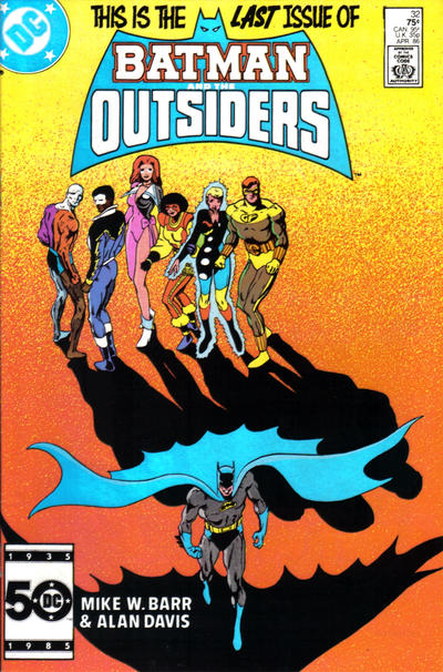 Cover for Batman and the Outsiders (DC, 1983 series) #32 [Newsstand]