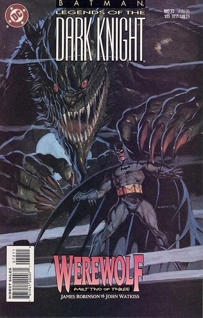 Cover for Batman: Legends of the Dark Knight (DC, 1992 series) #72