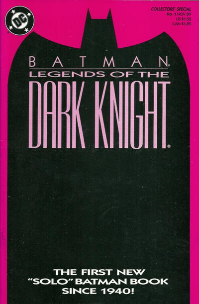 Cover for Legends of the Dark Knight (DC, 1989 series) #1 [Yellow Cover]
