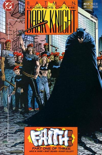 Cover for Legends of the Dark Knight (DC, 1989 series) #21