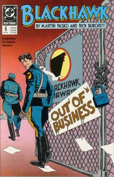 Cover for Blackhawk (DC, 1989 series) #6